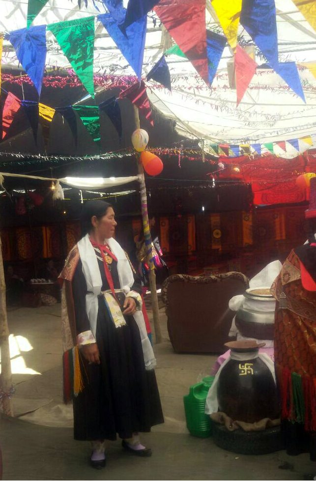 Pots of Chang & Food Prepared for the Ladakhi Wedding
