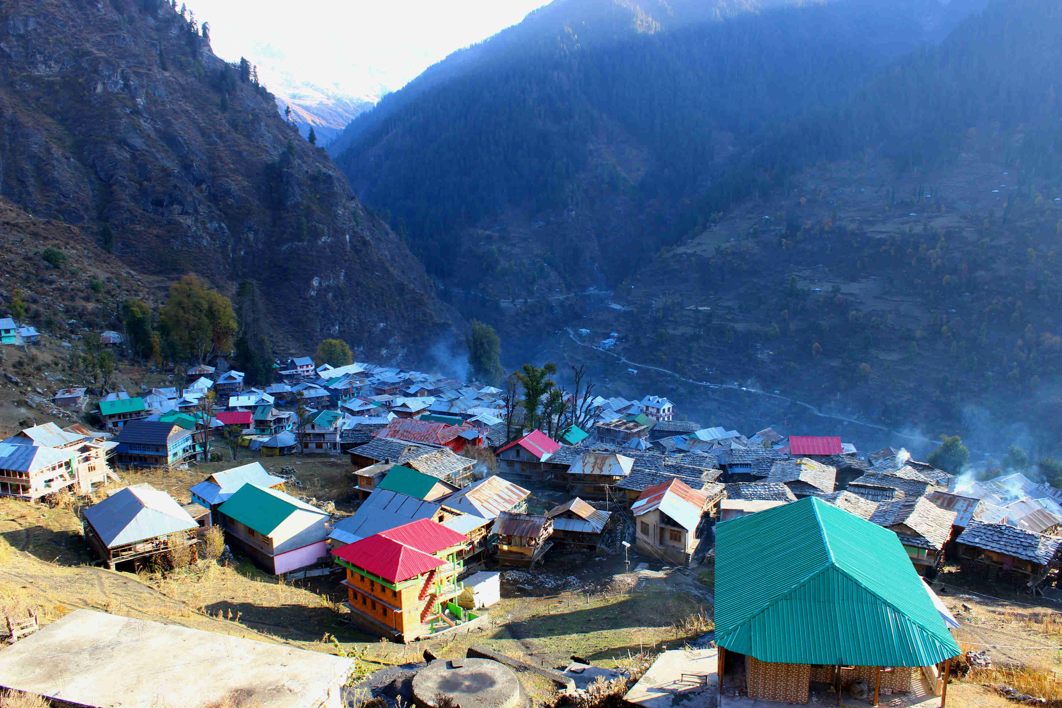 Top view of malana village