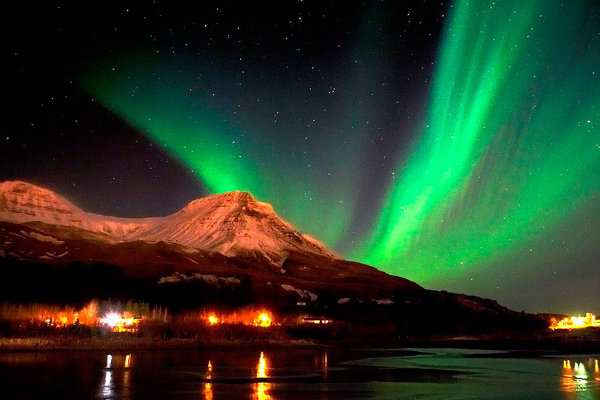 NYE at Reykjavik, Iceland is famous for Fireworks amidst mother nature's natural show of Northern Lights