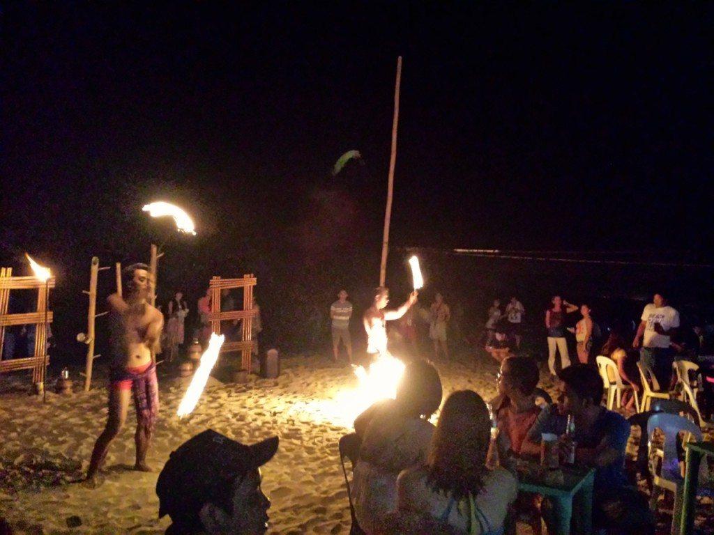 Fire dancers, Batangas, Philippines